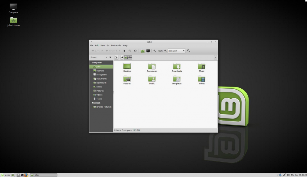 Linux Mint Mate Desktop