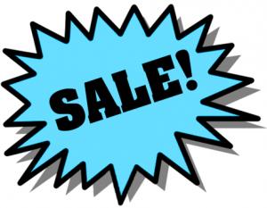 computer sale sign
